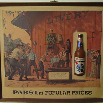 James Naismith Vintage Pabst Sign - Breweriana