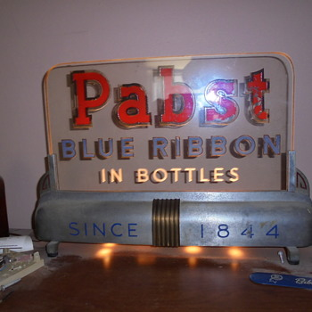 pabst blue ribbon edge lamp