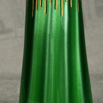 LOETZ GILDED GREEN METALLIN VASE - Art Nouveau