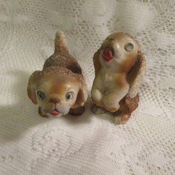 Sugar glazed cocker spaniel figurines