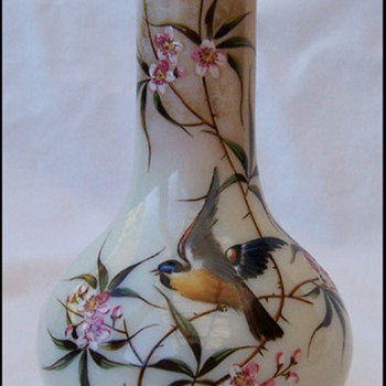 Sweet Little Harrach Bird Vase - Art Glass
