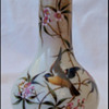 Sweet Little Harrach Bird Vase