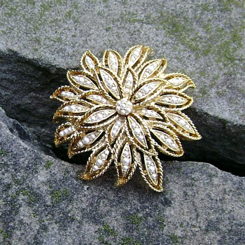 Brooch Signed D'orlan - Costume Jewelry