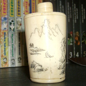 Bone Snuff Bottle - Asian