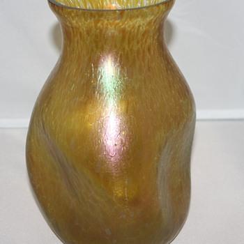 Amber Oilspot Vase