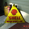 Shell Motor Spirit &amp; Oil...Double Sided Porcelain Sign...Three Colors...1920&#039;s