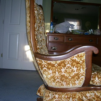 Antique Chair with Swivel Rocker - Furniture