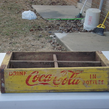 antique vintage crate coca-cola, & pepsi metal and wood 1969,1973,1975