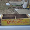 antique vintage crate coca-cola, &amp; pepsi metal and wood 1969,1973,1975