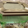 Depression glass slide top ashtray
