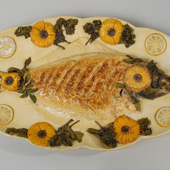 Chelsea Keramic Fish Platter by Hugh Robertson - Art Pottery
