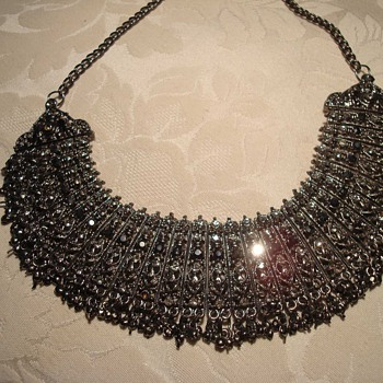 Victorian (?) marcasite and rhinestone collar