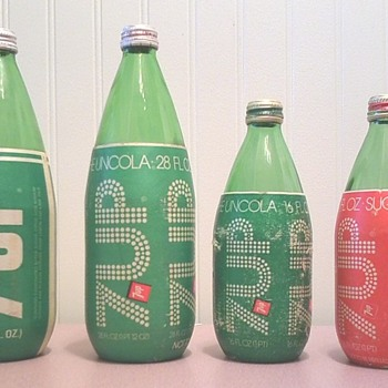 7up Syrofoam wrap bottles