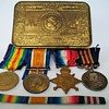 WW1 Trio and Military Medal to Pte H Jackson RAMC
