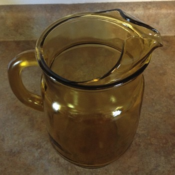 Amber glass pitcher - Glassware