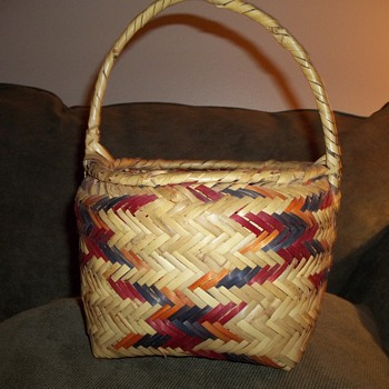 Choctaw Rivercane Basket - Native American