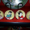 MINIATURE GEISHA GIRL PLATES 2 inches diameter