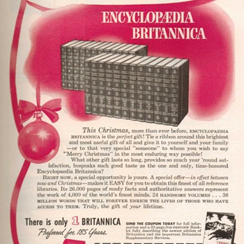 1952 - Encyclopdia Britannica Advertisement - Advertising