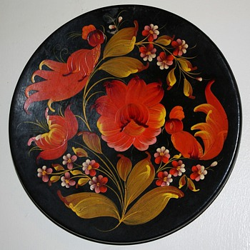 Small laquer plate from ??? - Folk Art