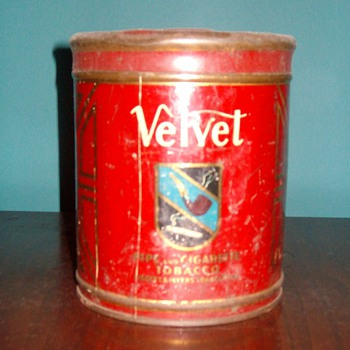"""Velvet"" Tobacco Can"