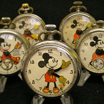 Unusual Mickey Mouse Pocket Watch - Maker/Period Unknown