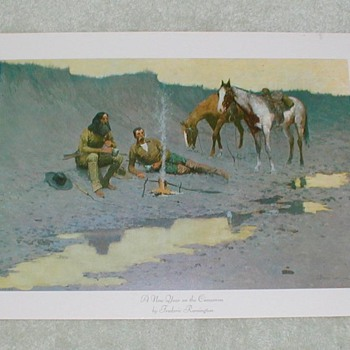 """A New Year on the Cimarron"" by Frederic Remington - Posters and Prints"