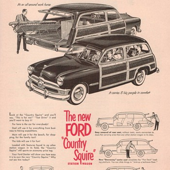 1950 Ford Station Wagon Advertisement