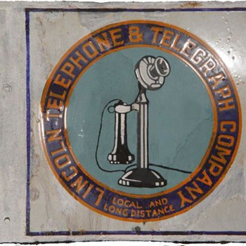 Lincoln Telephone and Telegraph Company Stick - Signs