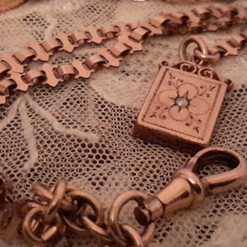 Edwardian gold bracelet&book pendant fob&1920sCyma gold watch - Fine Jewelry