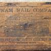 1800's Putnum Nail Company Wooden Box.