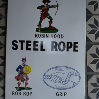 fifties porcelain sign from robin hood awsome