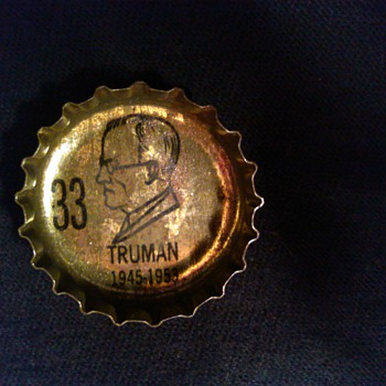RC Cola presidential Bottle Caps. YEAR? ANYONE?