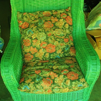 Green Wicker Chair - Furniture