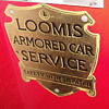 loomis armour car  metal side signs from 1960&#039;s