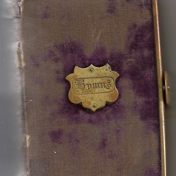 Tiny Velvet and brass hymnal - Books