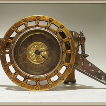 My Clock -- Very Old Canon Shaped ( 19th Century ) - Clocks
