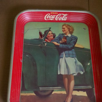 coke metal tray
