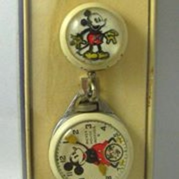 1935-37 Ingersoll Mickey Pendant Watch - Wristwatches