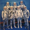 John Glenn Original Signed Photo of Mercury Spaceflight Crew
