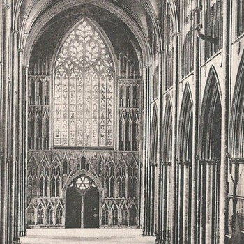 YORK MINSTER, NAVE WEST c. 1885 - Postcards