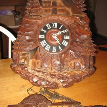 Heavily Carved Cuckoo Clock - Clocks