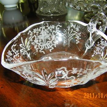 Triangle Nappie - Fostoria Navarre? - Glassware