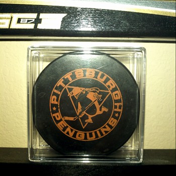 Pittsburgh Penguins Official Practice Puck 1967-70
