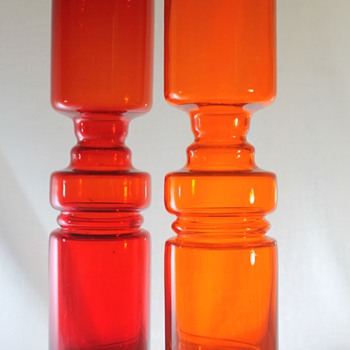 Hooped Japanese Vases 1970s - Art Glass