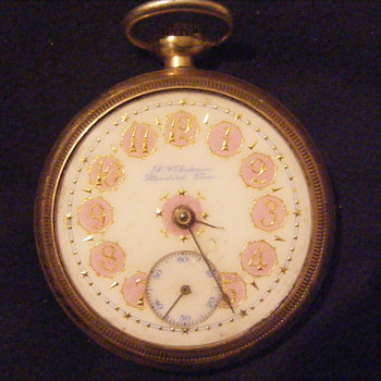 A. N. Anderson Hamilton RR Pocket Watch  w/ porcelain face