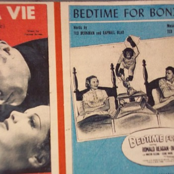 "Pres Reagan Movie, 1951!!  He co-Stars With A Chimp! ""Bedtime For Bonzo"" - Music Memorabilia"