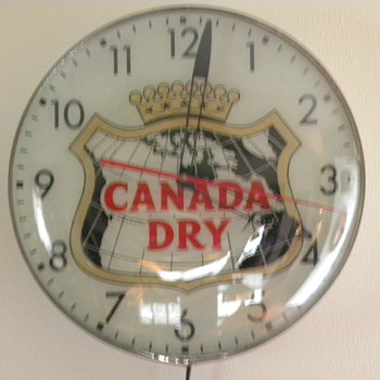 My Dads 1956 Canada Dry Pam Clock - Clocks