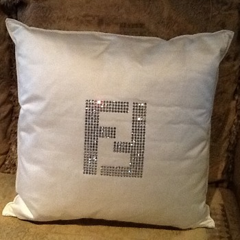 Fendi Swarovski pillow