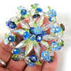 Vendome aurora borealis floral brooch