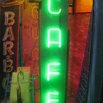 Vintage 1950's CAFE Antique Neon Sign
